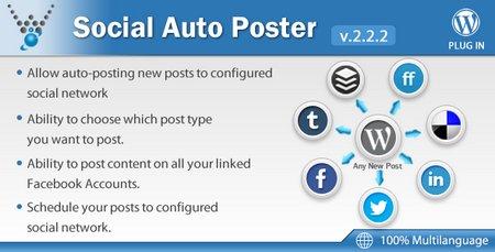 دانلود افزونه اشتراک گذاری مطالب Social Auto Poster وردپرس